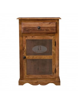Portland Small Kitchen Crockery Cabinet in Walnut Finish